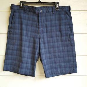 Nike Fit Dry Blue Plaid Golf Shorts  Sz. 36